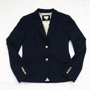 Like New J. Crew Navy Blue Schoolboy Blazer